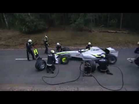 Formula 1 - 2009 - Brawn GP Pit Stop Test, attacked by a