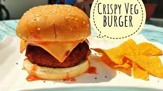 Crispy Veg burger recipe  | Mcdonald's style burger recipe