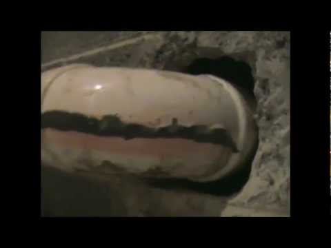 PVC drain pipe fix