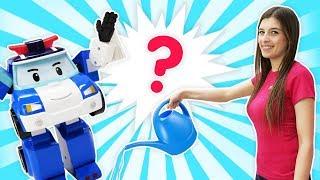 Мультики про машинки - Эмбер ищет Поли. Робокары в ToyClub. Ищем игрушки