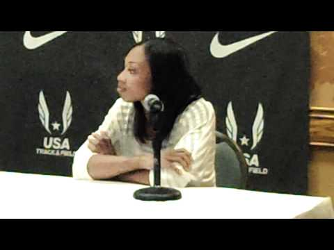 2012 Olympic Track &amp; Field Trials: Allyson Felix Press Conference