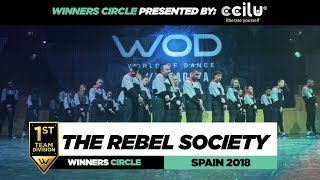 THE REBEL SOCIETY | 1st Place Team | FrontRow | World of Dance Spain Qualifier 2018 | #WODSP18