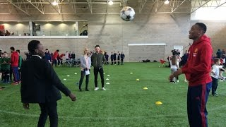 Anthony Martial meets William - #SchoolsUnited