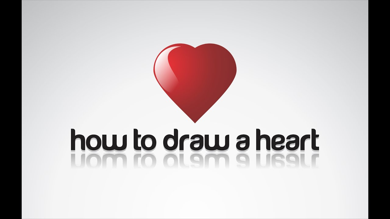 Corel Draw X6 tutorial - How to draw shiny heart in two ...