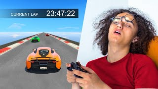ATTEMPTING THE LONGEST 24 HOUR RACE! - GTA 5 Funny Moments