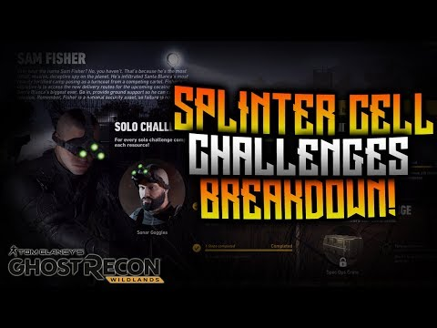 Ghost Recon Wildlands - Seasonal Challenge Breakdown! Splinter Cell Solo Challenges!