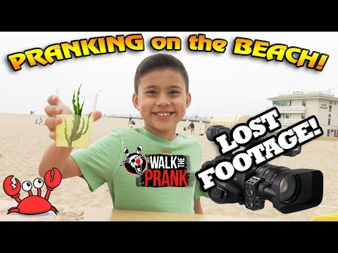 PRANKIN' on the BEACH!!! LOST FOOTAGE - Walk The Prank Behind the Scenes
