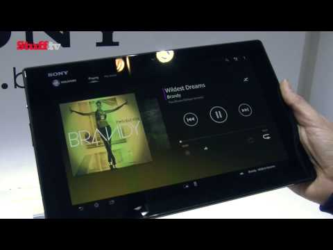 Sony Xperia Tablet Z first look video review -- MWC 2013