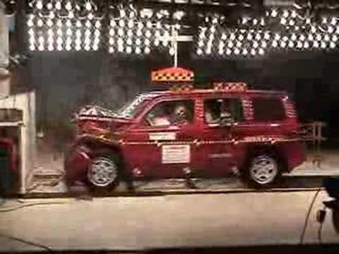 Crash Test Of 2007 Jeep Patriot W Sab Youtube