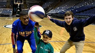 Trick Shots With The Harlem Globetrotters | That's Amazing