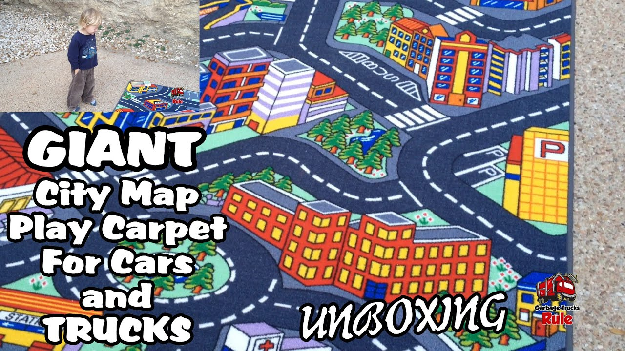 Giant City Map Play Carpet For Garbage Trucks Unboxing
