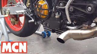 Ducati M900 Monster turbo engine noise! MCN   Motorcyclenews.com