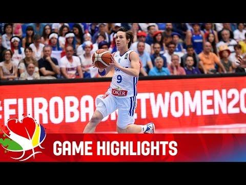 France v Russia - Game Highlights - Quarter-Final - EuroBasket Women 2015