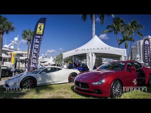 Ferrari Maserati of Ft. Lauderdale at the 2014 International Boat Show