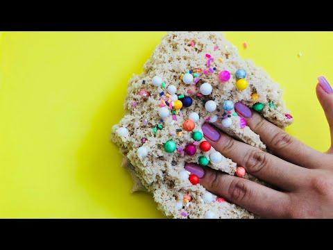 Как сделать слайм «печенье с радужными кусочками» как в Инстаграм// rainbow chip cookie slime