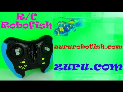 R/C Robofish The Lifelike Robotic Fish: Tank & RC Control Pack Toy Review. zururobofish.com