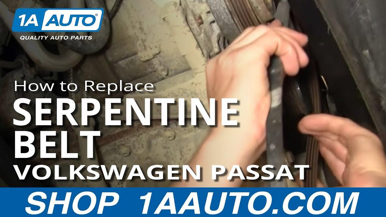 how to install replace a  c compressor fan serpentine belt volkswagen passat 1 8t 1aauto com skoda rapid engine diagram skoda octavia engine bay diagram