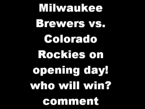 Milwaukee Brewers vs. Colorado Rockies April 1st 2013 who will win?