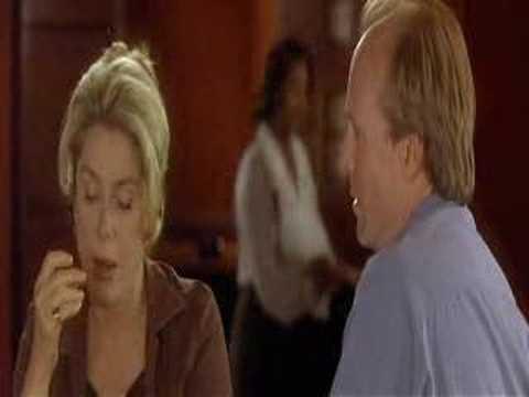 Catherine Deneuve and  Willam Hurt romantic scene