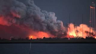 Antares Rocket Explosion Over Wallops - NASA, Orbital Sciences