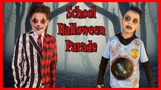 SPOOKY MAKEUP | SCHOOL HALLOWEEN PARADE | STUDENT OF THE MONTH | D&D FAMILY VLOGS