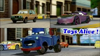 Cars 2 Game Play - 3 Players Battle Race 4