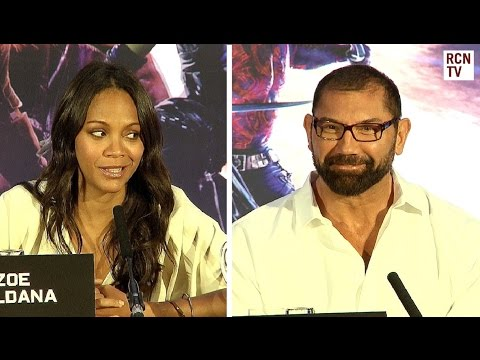 Zoe Saldana & Dave Bautista - Alien Make Up - Guardians of the Galaxy Premiere
