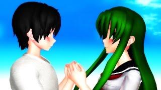 MMD Yandere Simulator Midori  X Yandere Dev I like you I love you