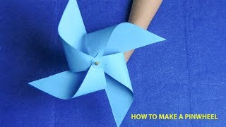 How to fold paper spinwheel