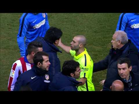 Fight between Neymar and Fernando Torres || Atleti de Madrid 2 x 3 Barcelona 28/01/2015 HD