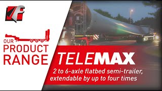 FAYMONVILLE TeleMAX: 2 to 6-axle flatbed semi-trailer, extendable by up to four times