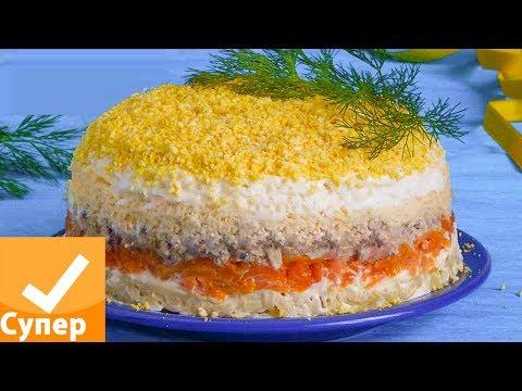 Салат Мимоза! Классический рецепт с консервами, пошаговый с фото видео. Супер ответ