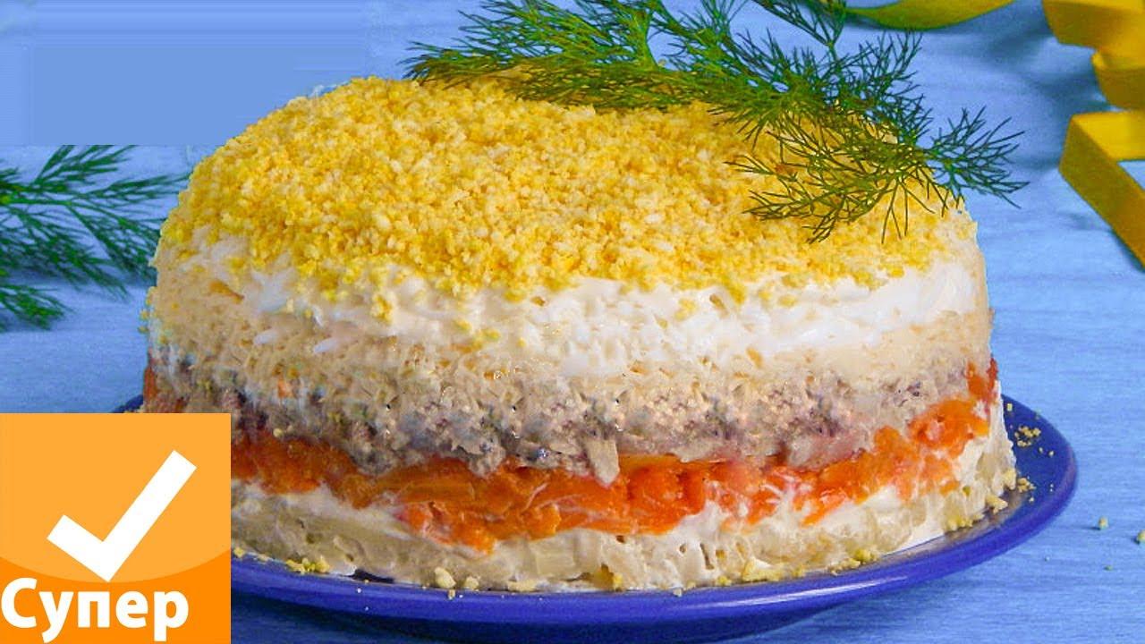 Салат мимоза с консервой классический рецепт с пошагово
