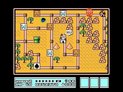 Super Mario Bros 3 - Super Mario Bros 3 - Nintendo NES - flute 3 - User video
