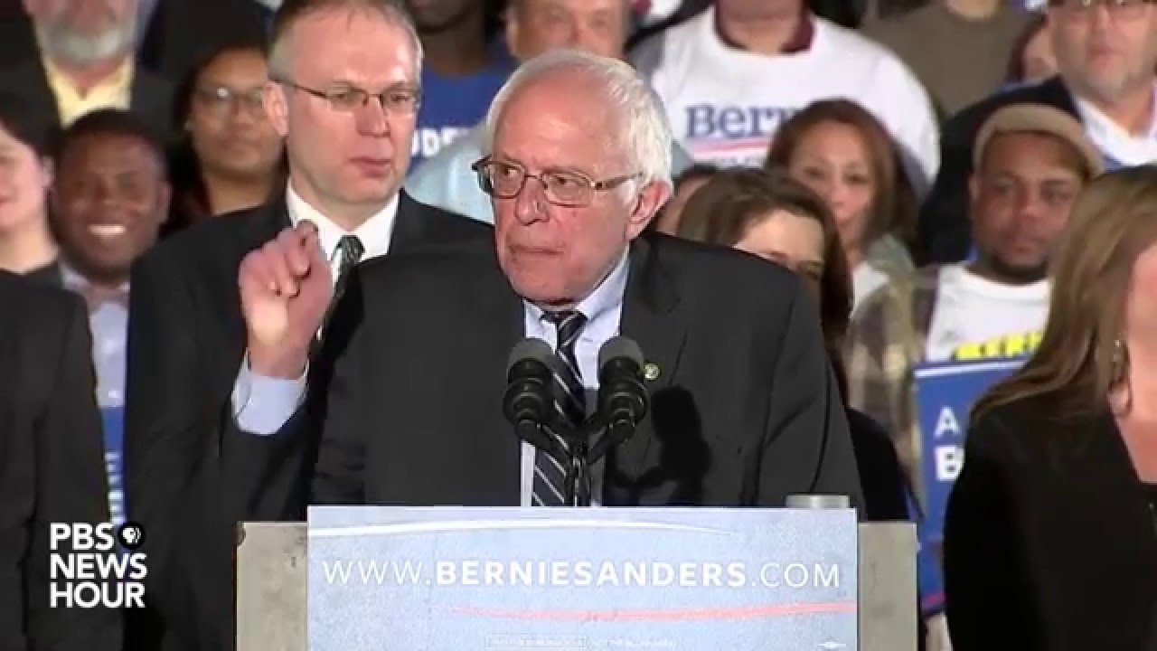 Sanders: 'We have sent a message that will echo from Wall Street to Washington'