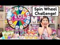 LOL SURPRISE MYSTERY WHEEL OF TOYS CHALLENGE L O L SERIES 3 WAVE 2 CONFETTI POP SQUISHIES TOY HAUL mp3