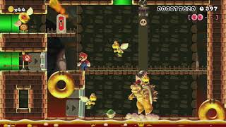 3-4 Chomper Gauntlet. by [CH]☆Eπzσ. - Super Mario Maker - No Commentary