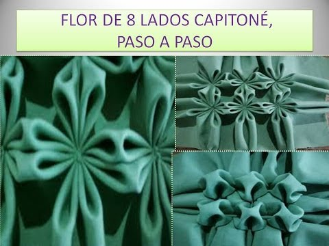 FLOR DE 8 LADOS CAPITONE PASO A PASO