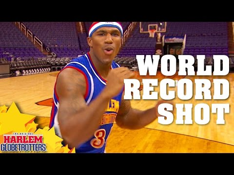 World Record Backwards Basketball Shot! | Harlem Globetrotters