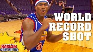 World Record Backwards Basketball Shot! | Harlem Globetrotters