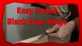 How To Install Hinges On A New Blank Door, Installing A Door Hinge