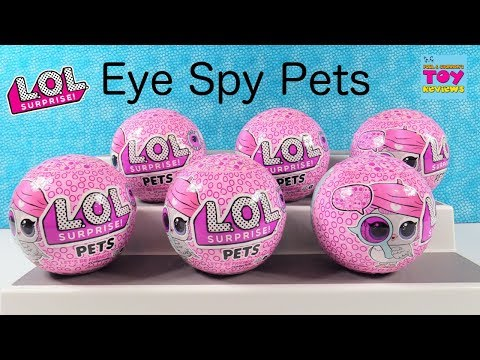 LOL Surprise Pets Eye Spy Series 4 Color Change Bubble Pet Unboxing | PSToyReviews