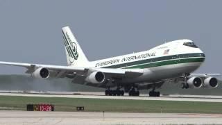 Evergreen International Airlines Boeing 747-212B(SF) Landing Runway 10 / Chicago O'Hare