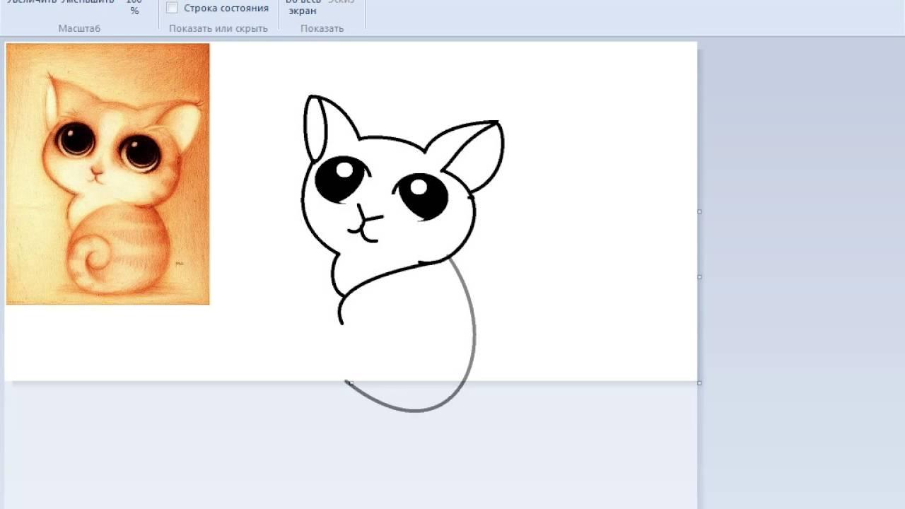 Видео рисуем няшек