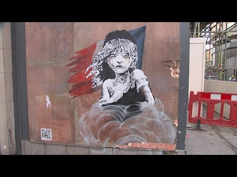 New Banksy mural covered up by property developers in London