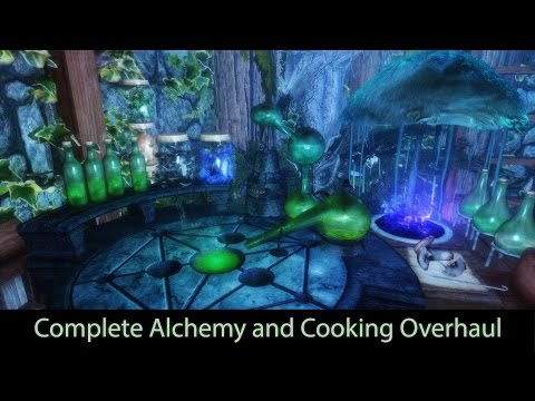 Complete Alchemy and Cooking Overhaul. Skyrim mod review 2016. [60FPS 1080p]
