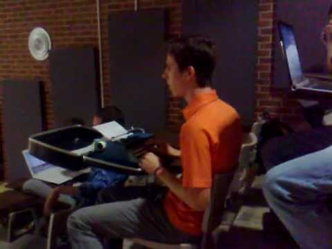 student brings typewriter to class  (CS 1301 @ GT) prank