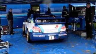 SUBARU IMPREZA WRC S12b 2007 STI (hard engine sound) rally car Prodrive Lyon charbonnieres 2013