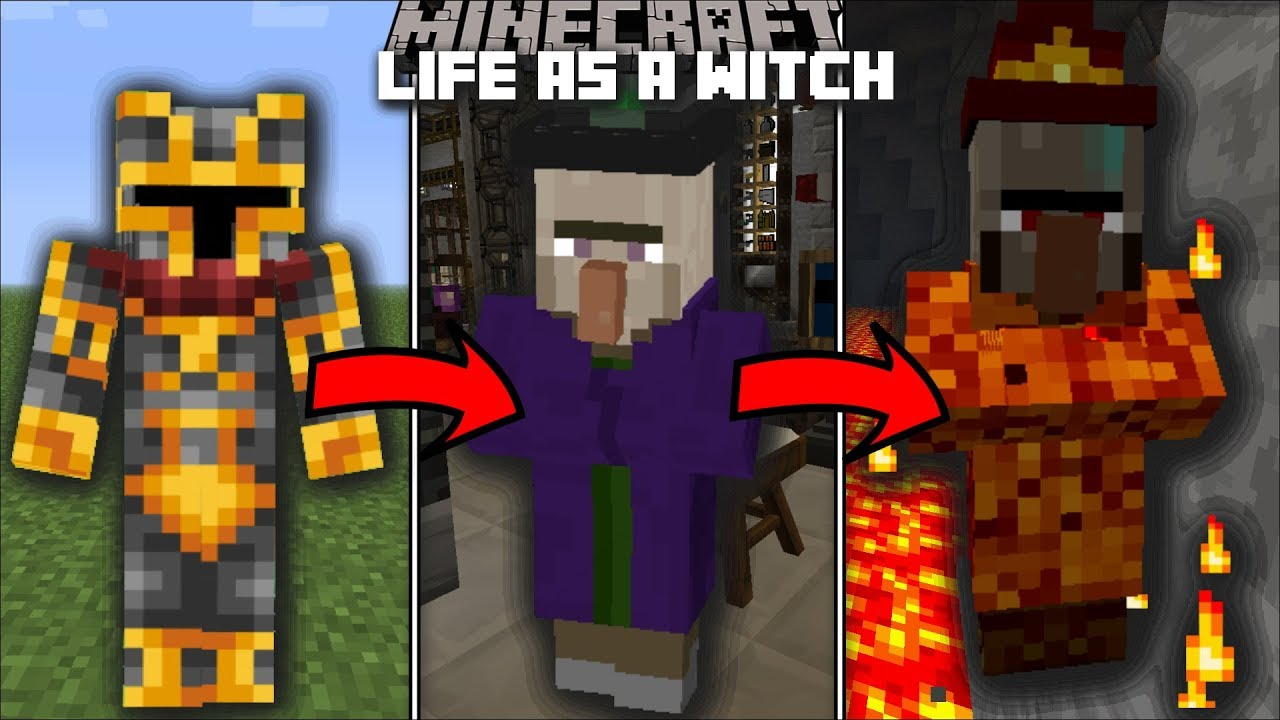 Minecraft LIFE AS A WITCH MOD / FIGHT OFF EVIL MOBS WITH YOUR POTIONS!! Minecraft