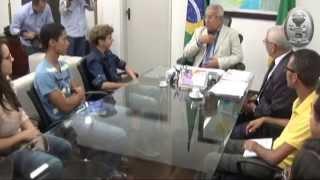 Governador e Secret�rio de Estado da Educa��o recebem alunos bem sucedidos no Enem